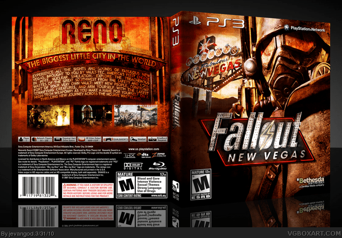 Fallout New Vegas PlayStation 3 Box Art Cover By Jevangod