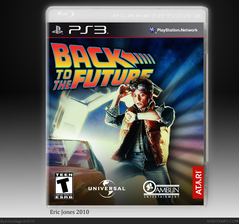 Back To The Future The Video Game PlayStation 3 Box Art Cover By Ericvoltage