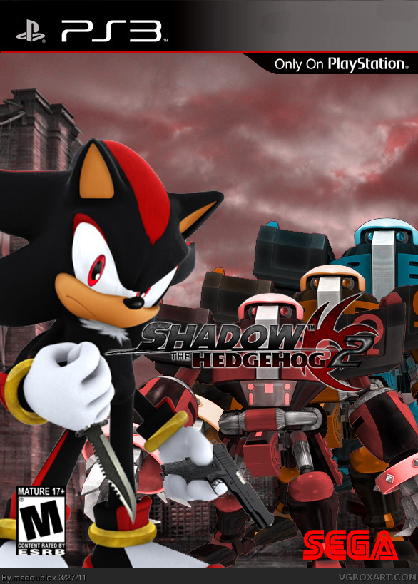 Shadow The Hedgehog 2 PlayStation 3 Box Art Cover By Madoublex
