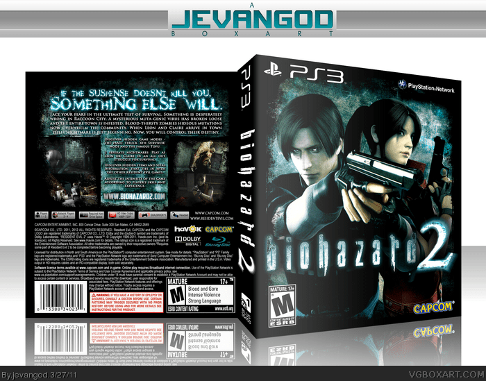 Biohazard 2 PlayStation 3 Box Art Cover By Jevangod