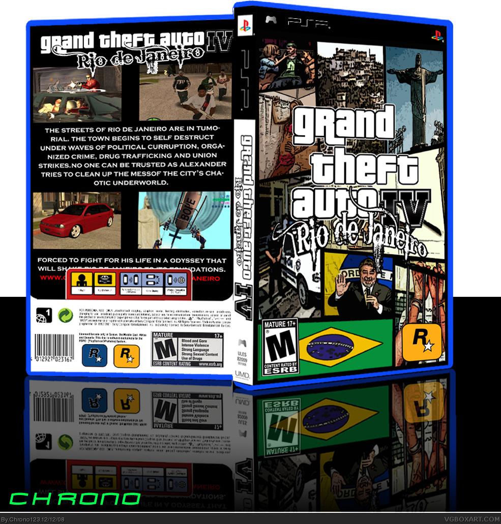 Grand Theft Auto IV Rio De Janeiro PSP Box Art Cover By