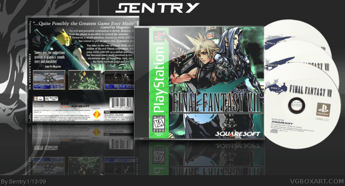Final Fantasy VII PlayStation Box Art Cover By Sentry