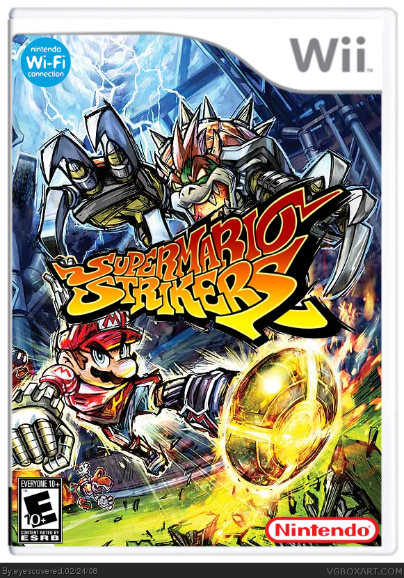 Super Mario Strikers Wii Box Art Cover By Eyescovered