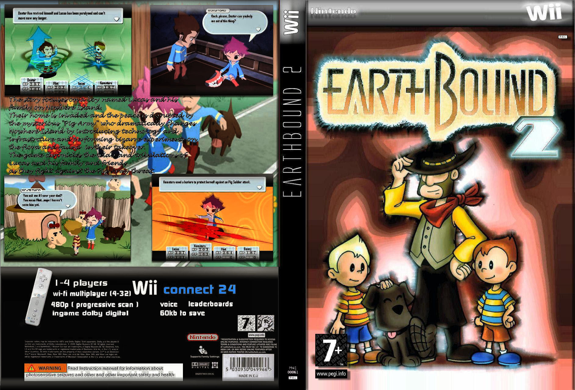 Earthbound 2 Wii Box Art Cover By TwilightMystics