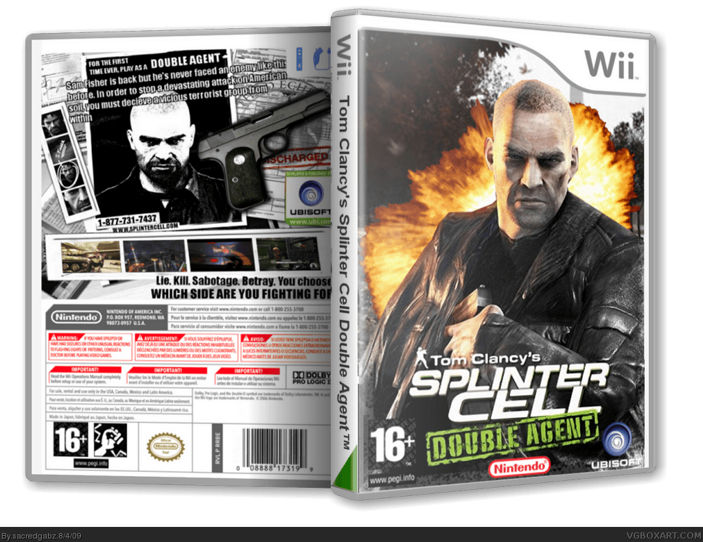Viewing Full Size Splinter Cell Double Agent Box Cover