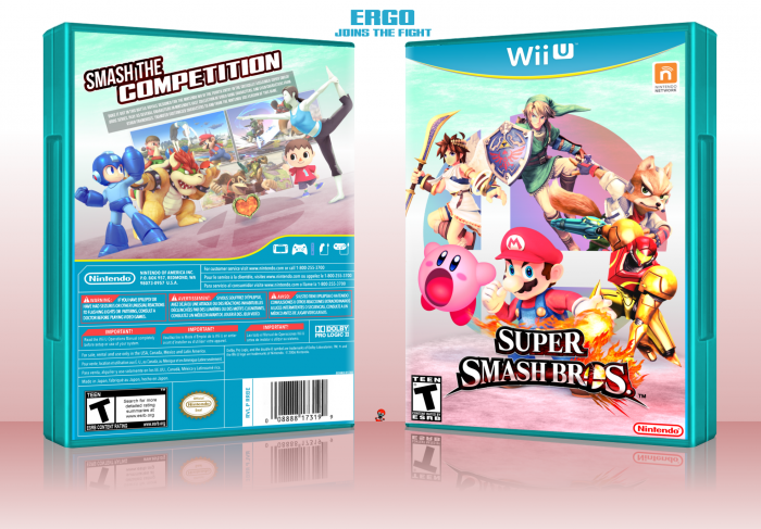 Super Smash Bros For Wii U Wii U Box Art Cover By Ergo