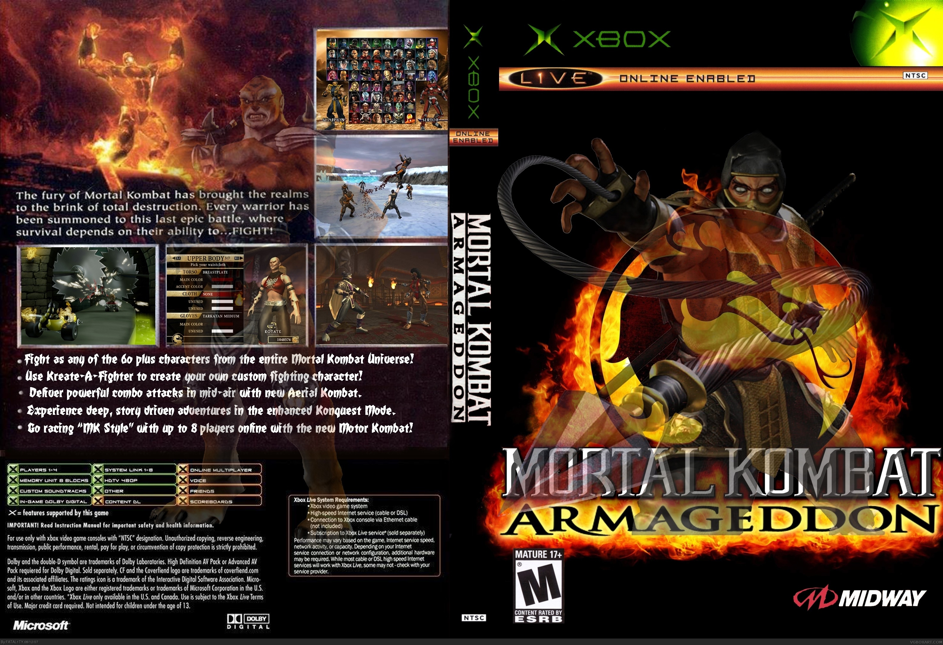 Mortal Kombat Armageddon Xbox Box Art Cover By FATAL1TY