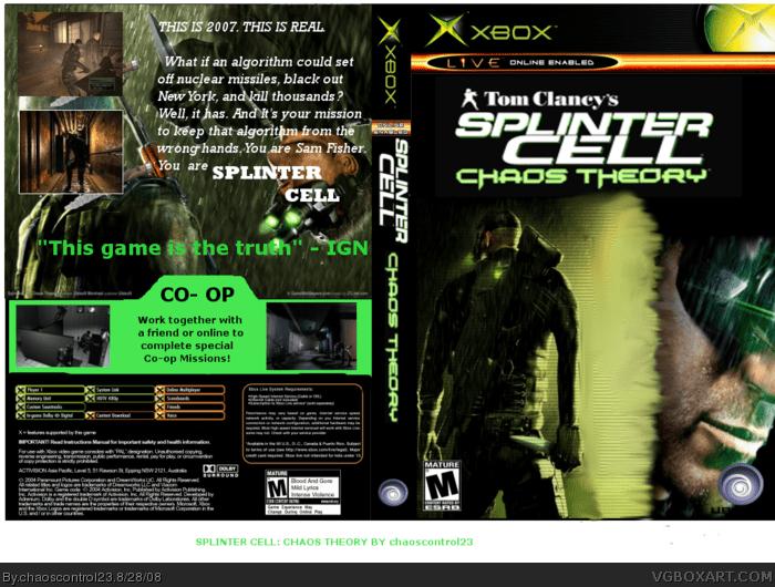 Tom Clancys Splinter Cell Chaos Theory Xbox Box Art