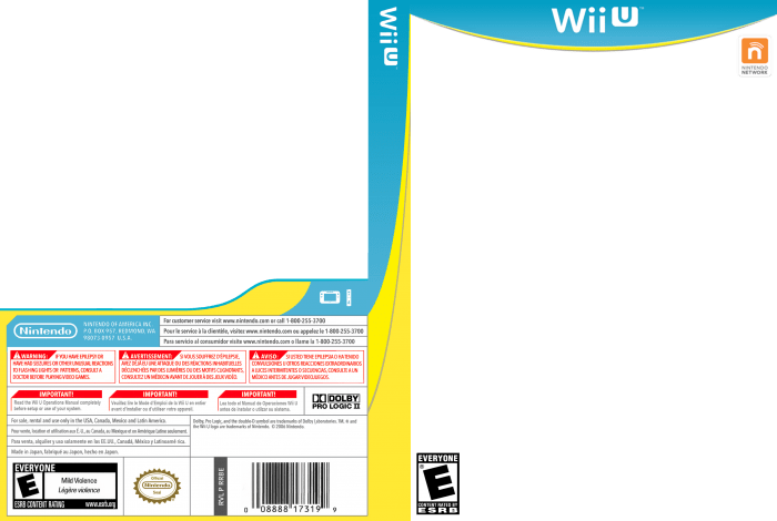 Nintendo Switch Game Cover Template