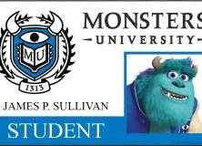 Pósters y credenciales de estudiantes de 'Monsters University'