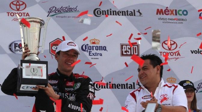 Luis Felipe Montaño hace vibrar el Hermanos Rodríguez tras su primer victoria
