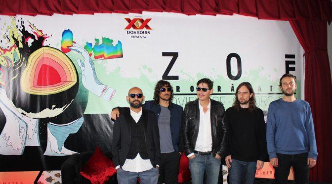 La gira Prográmaton de Zoé  llegará a la Ciudad de México