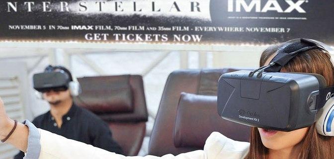 La película Interstellar se combina con el Oculus Rift