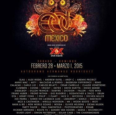 EDC MÉXICO 2015 ANUNCIA SU CARTEL COMPLETO