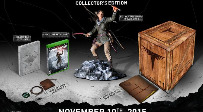 Anuncian edición de colección de Rise of The Tomb Raider exclusiva de Xbox One