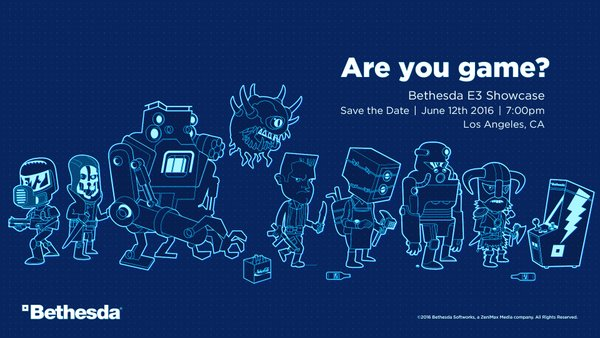 Are you game? Bethesda tendrá su conferencia en el E3 2016