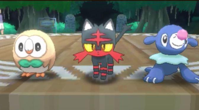 ¡Estos son los starters de Pokémon Sun & Moon!