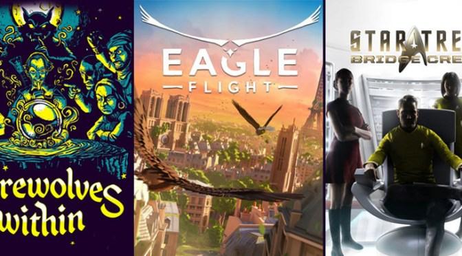 """<span class=""""entry-title-primary"""">Ubisoft confirma fechas de lanzamiento de 3 de sus juegos de VR</span> <span class=""""entry-subtitle"""">Eagle Flight, Werewolves Within y Star Trek: Bridge están próximos a llegar</span>"""