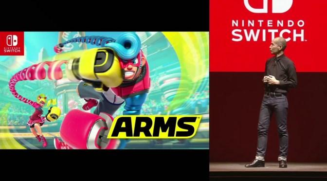 """<span class=""""entry-title-primary"""">Se anuncia """"ARMS"""", la nueva IP de Nintendo</span> <span class=""""entry-subtitle"""">¿Tendremos """"LEGS"""" para 2020?</span>"""