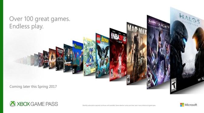 "<span class=""entry-title-primary"">¡Microsoft presenta el servicio Xbox Game Pass!</span> <span class=""entry-subtitle"">Por tan sólo $10 dólares al mes podrán tener acceso a un enorme catálogo de juegos</span>"