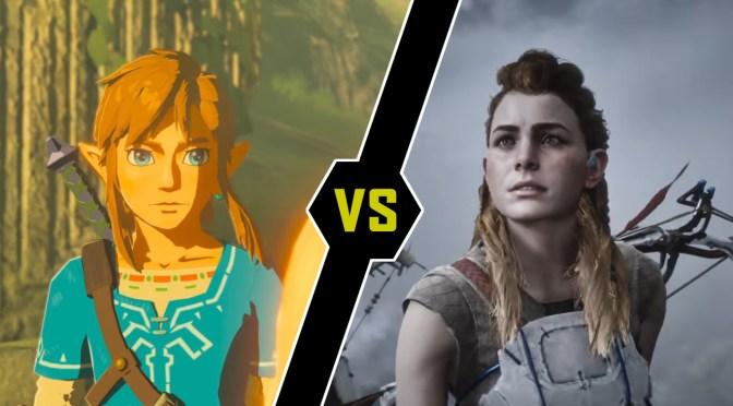 """<span class=""""entry-title-primary"""">¿Horizon Zero Dawn o Zelda Breath of the Wild?</span> <span class=""""entry-subtitle"""">¿Cuál de los dos fue superior? Los dos juegos más sonados fueron confrontados...</span>"""
