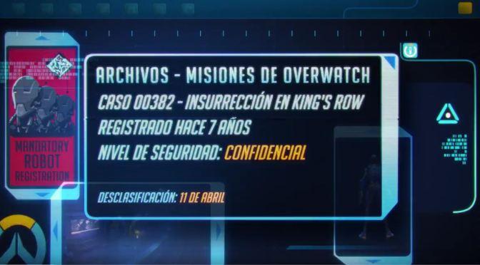 """<span class=""""entry-title-primary"""">Habrá un anuncio de Overwatch el 11 de abril</span> <span class=""""entry-subtitle"""">¿Qué estarán tramando?</span>"""