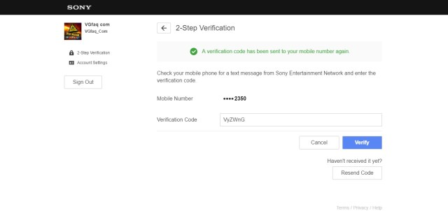 How to Activate the New PlayStation Account 2-Step Verification ...