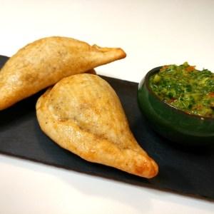 Vegan Meat Empanadas with Roquette Chimichurri recipe