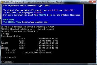 DosBox - למה אני צריך להקליד פקודות? מה זה פה, 1992?
