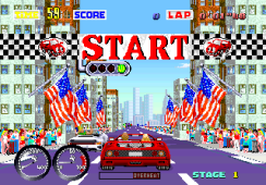 Sega Turbo Out Run Start
