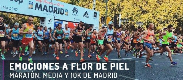 Emociones a flor de piel: maratón, media y 10k de Madrid