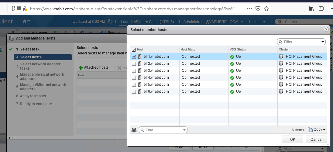 vMotion fails for a specific host with message