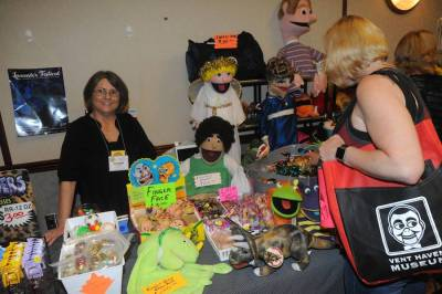 Dianne Dunbar at her dealer's table