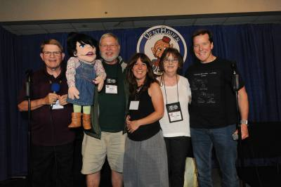 Mark Wade, Raffle winner John Byrd, Melissa Taylor, Mary Ann Taylor, and Jeff Dunham