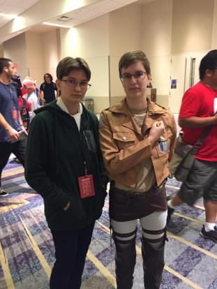 Rachael and Gretchen Attack on Titan Cosplay