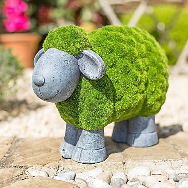 Vật trang trí bằng bê tông nhẹ, con cừu bê tông nhẹ