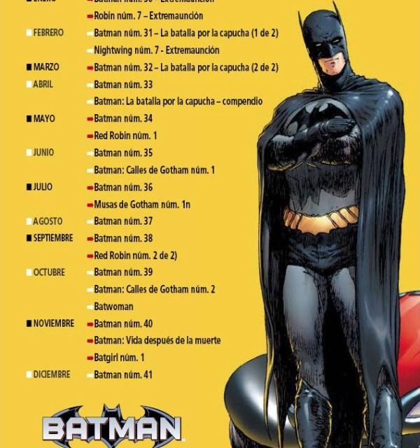 "Plan editorial de ""Batman Renacido"""
