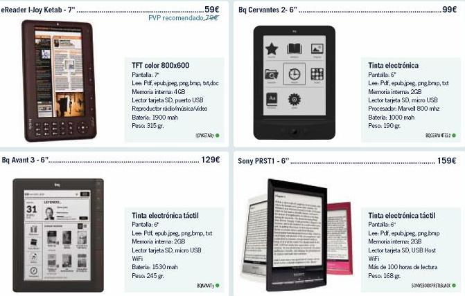 Ofertas de tablets y ebooks en PhoneHouse para Junio de 2012