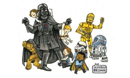 """Darth Vader y amigos"" (Jeffrey Brown, Planeta Cómic)"