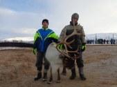 Avec Angel, le renne apprivoisé de la famille / With Angel, the family's tamed reindeer