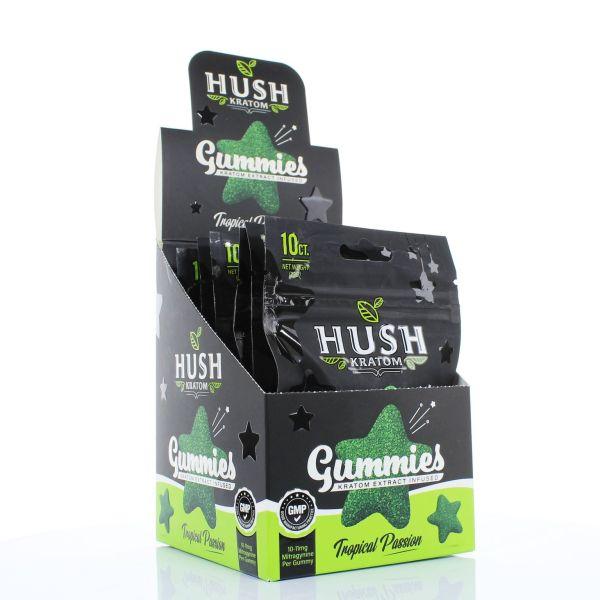 Hush Kratom Extract Gummies Box