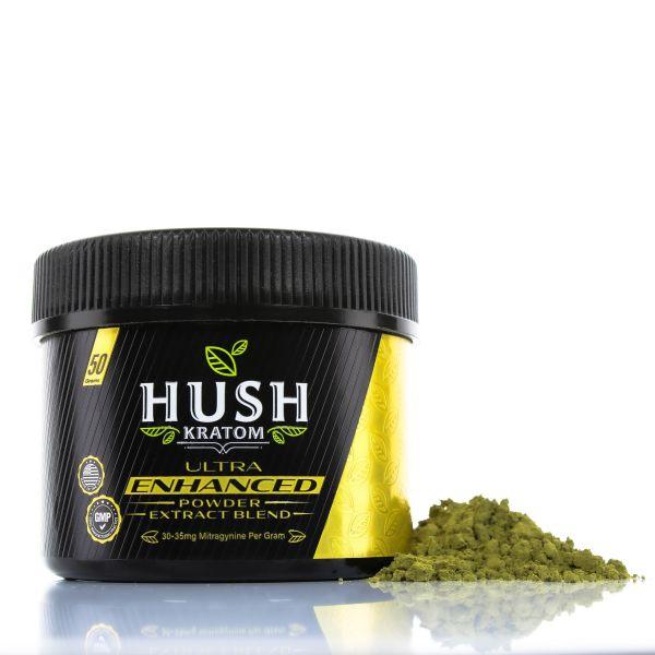 Hush Kratom Ultra Enhanced Powder Extract Blend