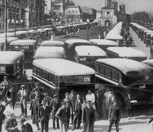 Protest soferi de autobuz Dealul Mitropoliei 1935