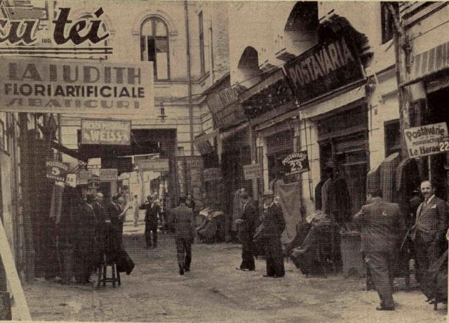 """Hanul cu Tei în perioada interbelică. Sursa foto: """"Ilustrațiunea română"""", 9 octombrie 1935"""