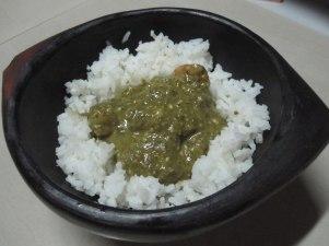 Matapa - hojas de yuca con coco, maní y camarones