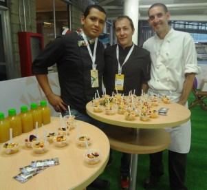 con chefs Davide y Jorge Luis
