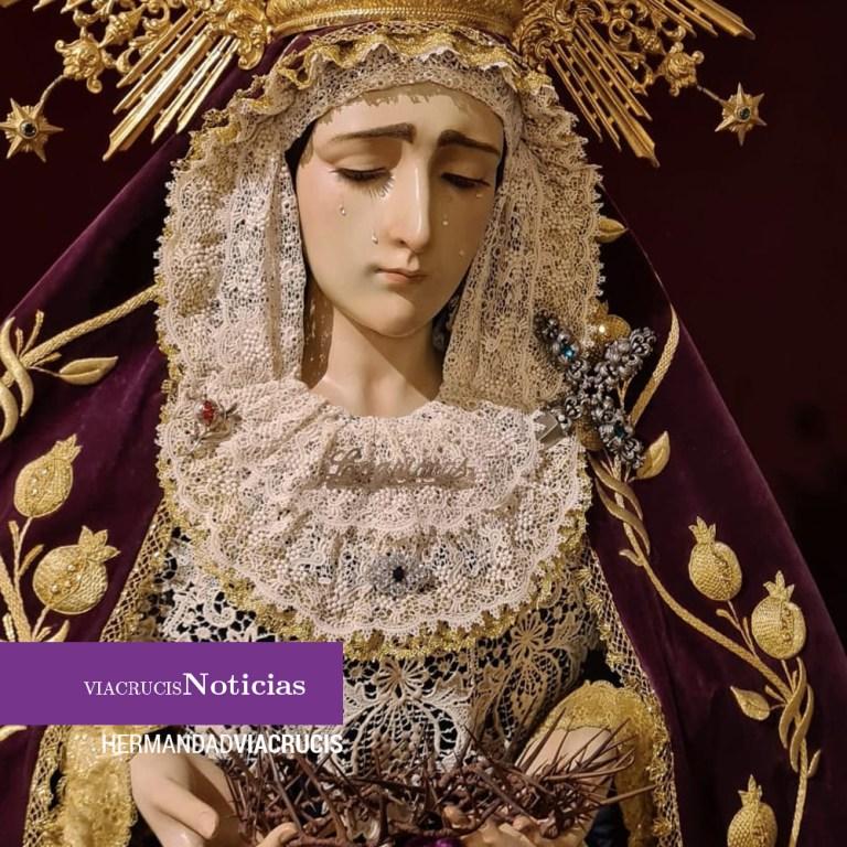 El Vía Crucis celebra cultos a la Virgen de las Lágrimas este domingo, 15 de septiembre