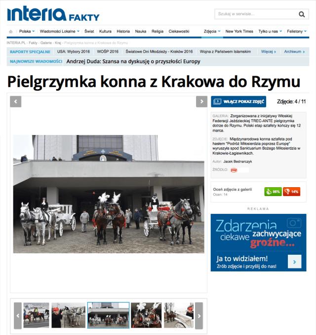 Pielgrzymka konna z Krakowa do Rzymu