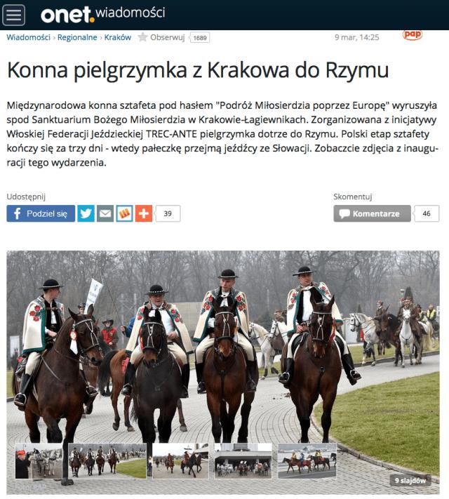 Konna pielgrzymka z Krakowa do Rzymu
