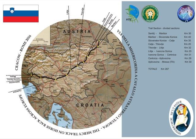 Via della Misericordia a Cavallo Attraverso L'Europa – Slovenia
